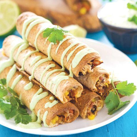 baked-firecracker-cheesy-chicken-taquitos-2
